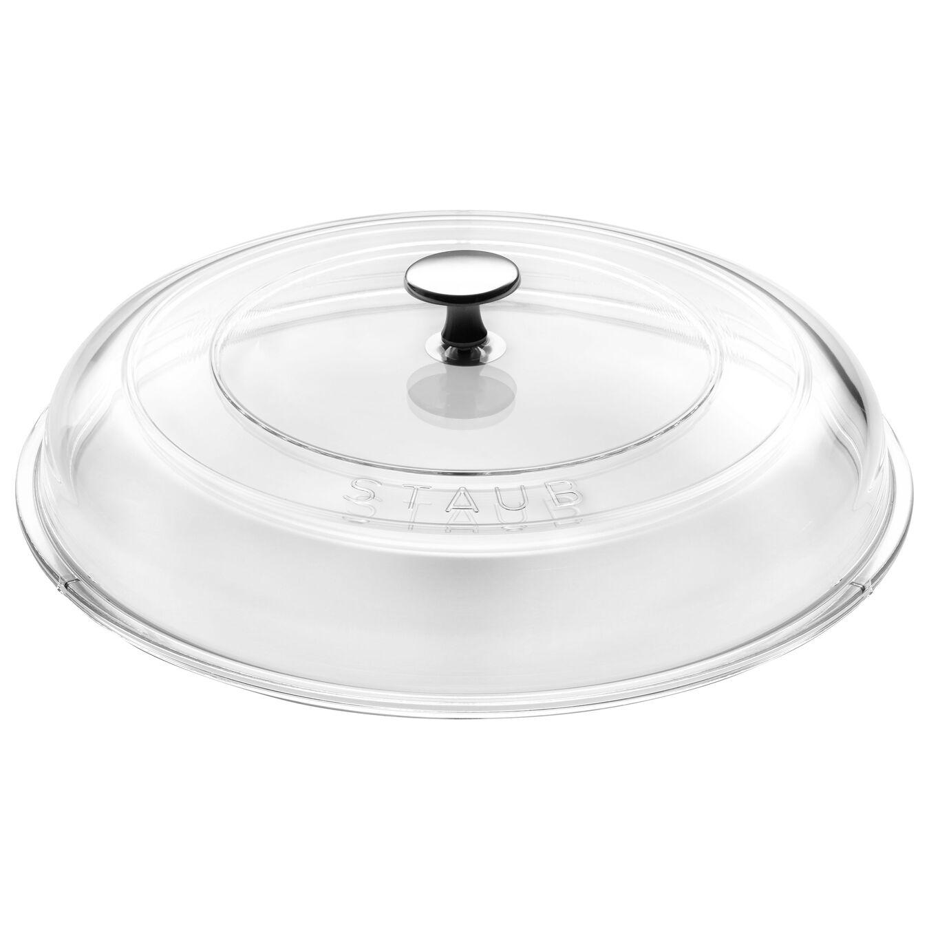 Gewölbter Glasdeckel, 24 cm | rund | Glas | Transparent,,large 1