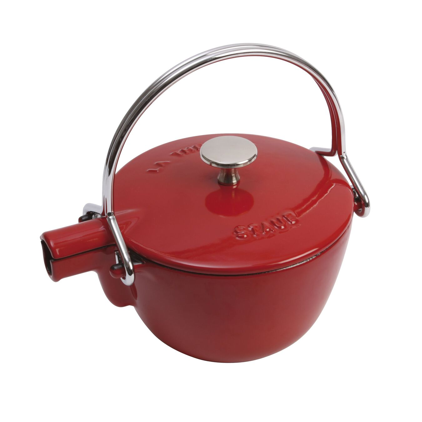 1.1 l Cast iron Tea pot, cherry,,large 2