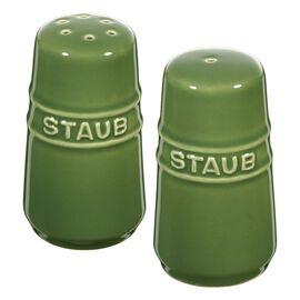 Staub Ceramique, Salt- og peberbøsser 7 cm, Stentøj, Basilikum-Grøn