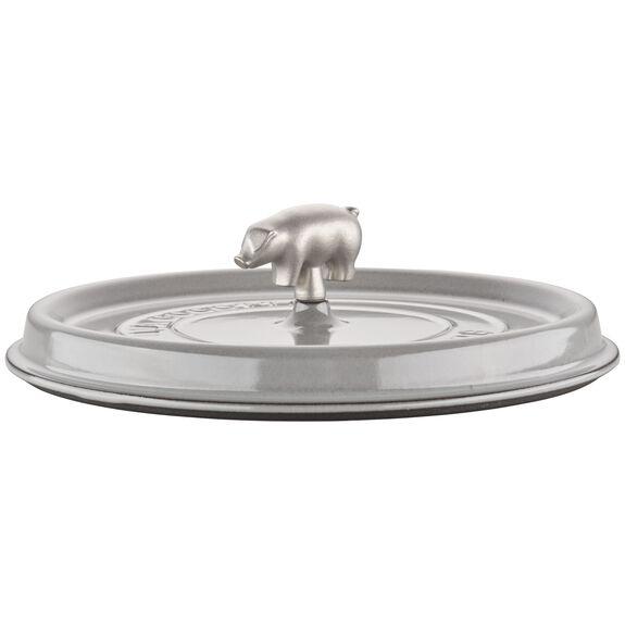6-qt Cochon Shallow Wide Round Cocotte - Graphite Grey,,large 6