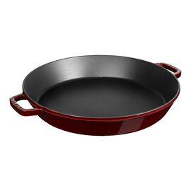Staub Cast Iron, 15.75 inch, Double Handle Fry Pan, grenadine