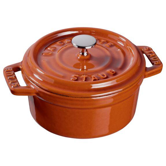 0.25-qt Mini Round Cocotte - Burnt Orange,,large 3