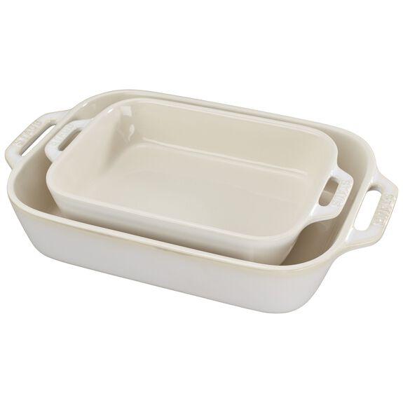 2-pc Rectangular Baking Dish Set - Rustic Ivory,,large