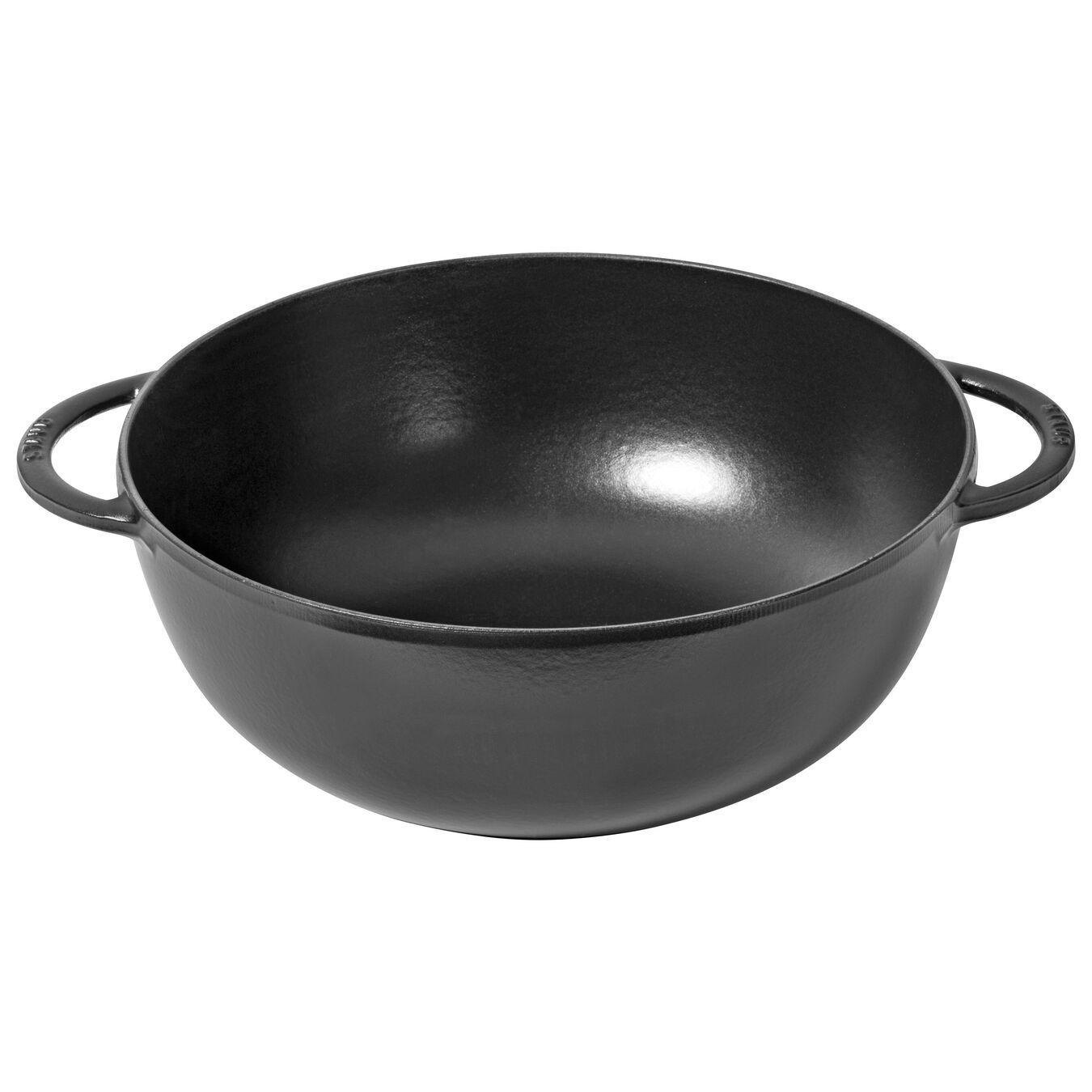 8.25 qt, Wok, black matte,,large 1