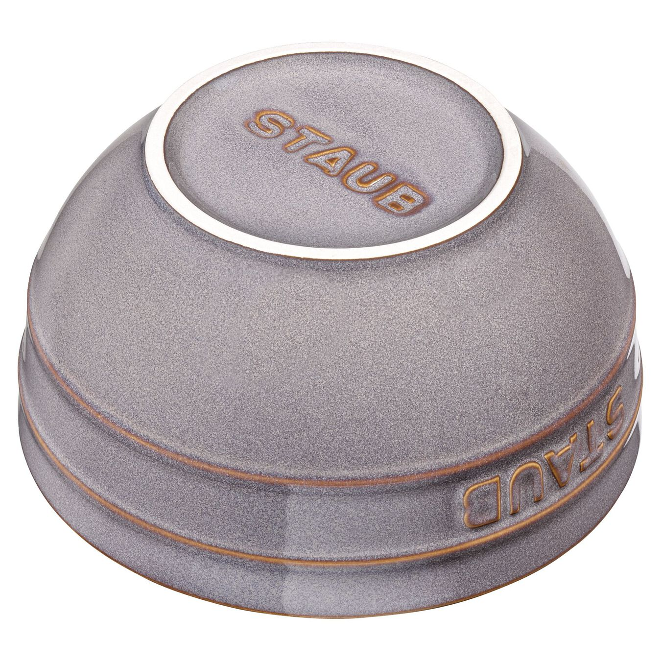 14 cm Ceramic round Bol, Ancient-Grey,,large 2