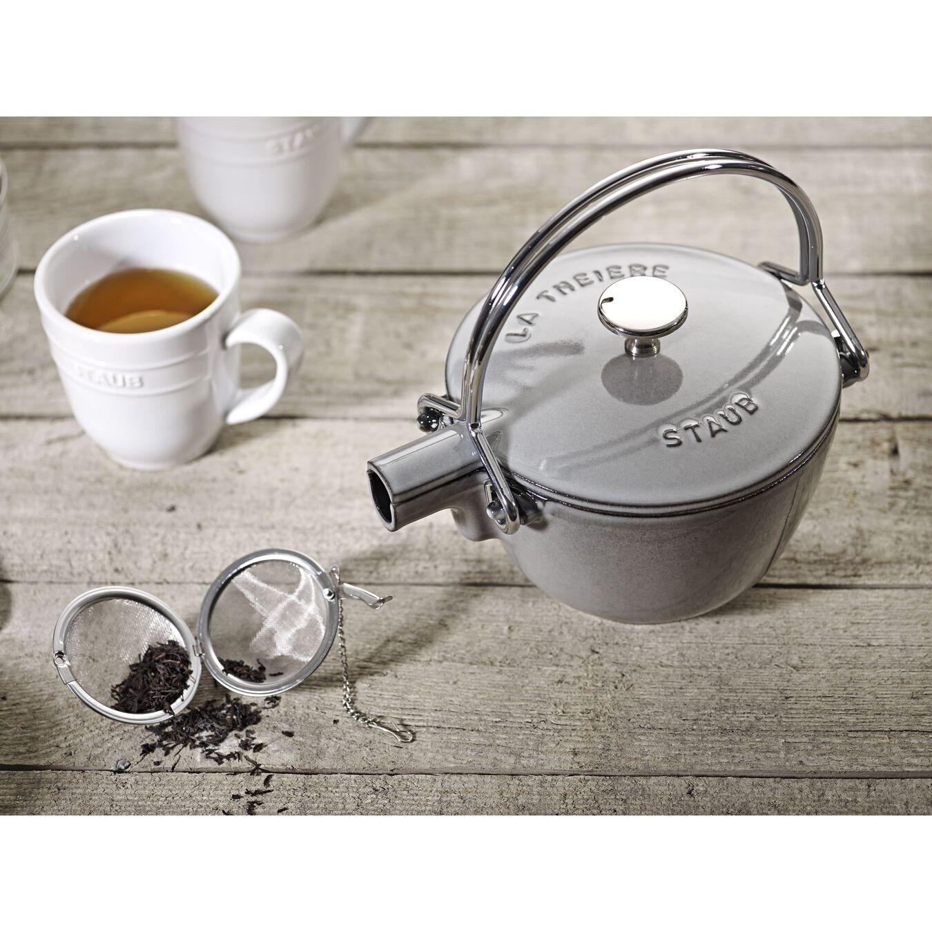 1 qt, round, Tea Kettle, graphite grey,,large 5