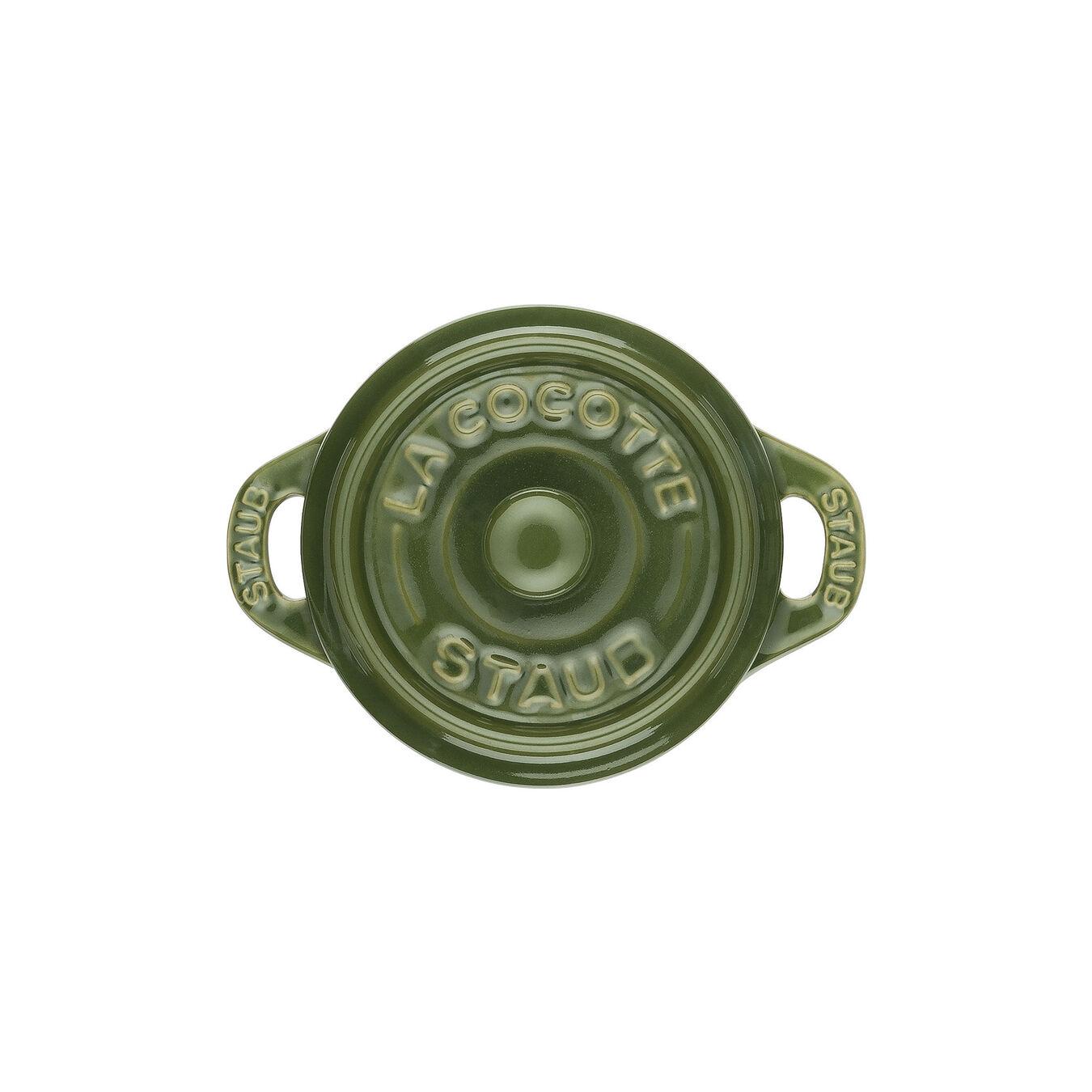 Mini Cocotte 10 cm, Rond(e), Basilic, Céramique,,large 3