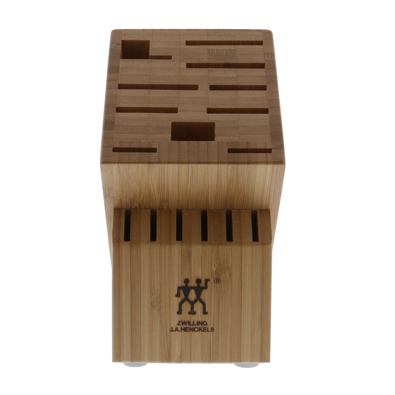 bamboo, TWIN Knife block empty,,large 2