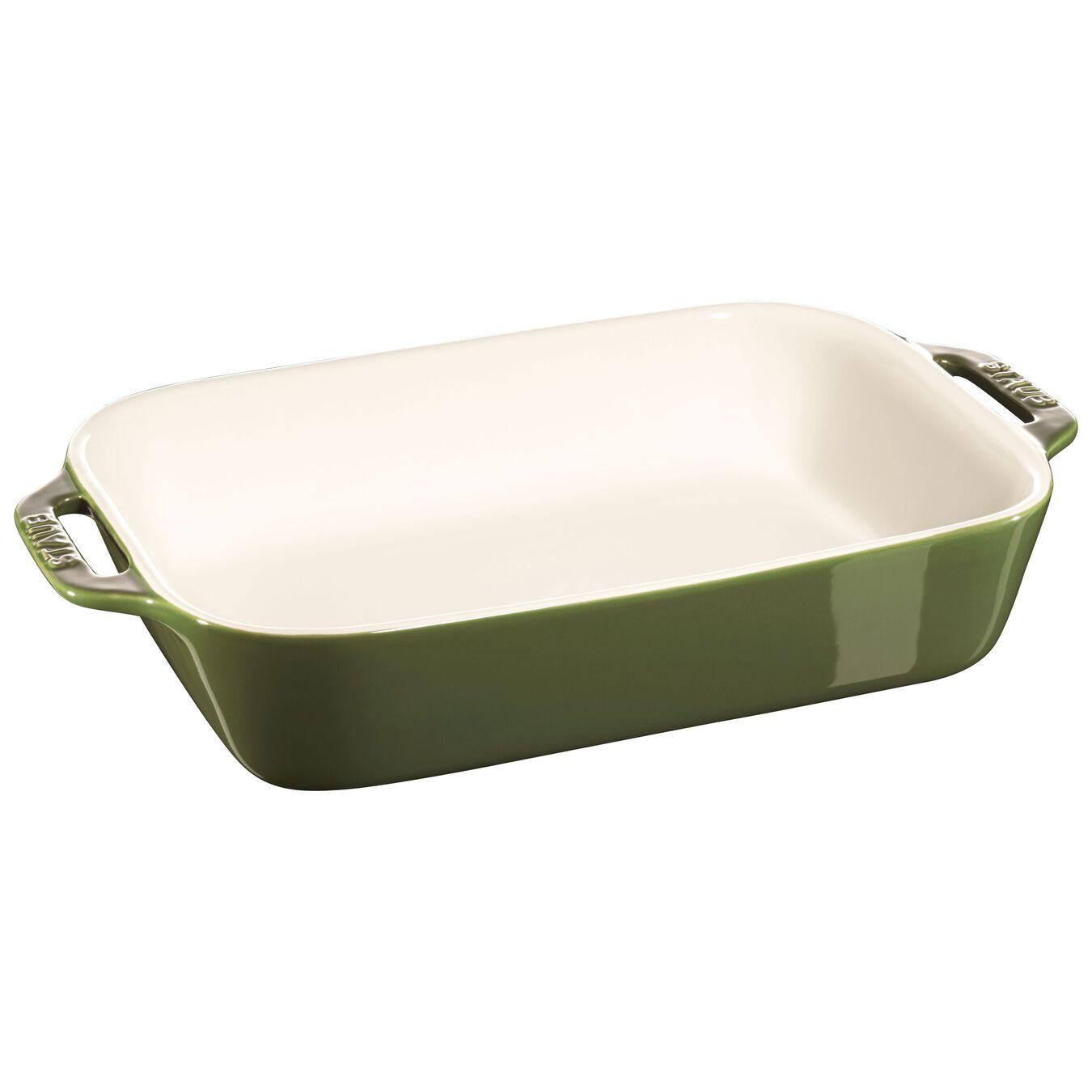 2-pcs rectangular Ensemble plats de cuisson pour le four, Basil-Green,,large 2