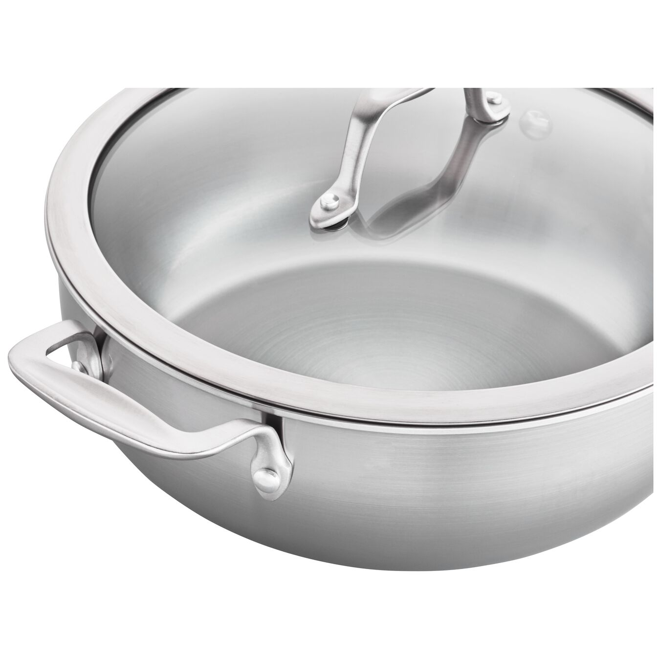 3-ply 4.6-qt Stainless Steel Perfect Pan,,large 2
