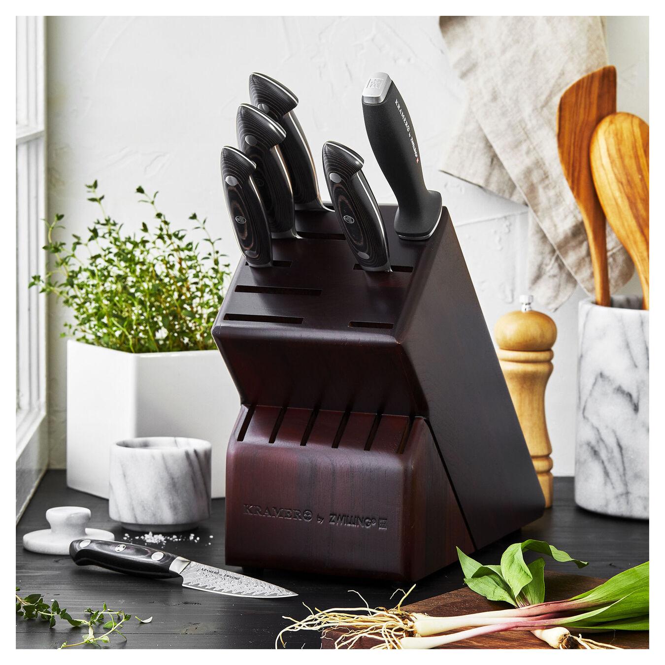 7-pc, Knife block set, walnut,,large 10