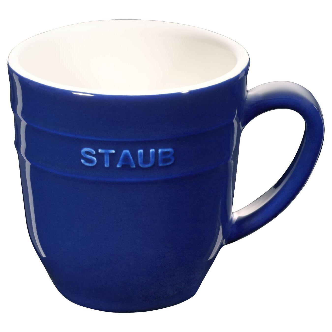 Ceramic round Mug, Dark-Blue,,large 1