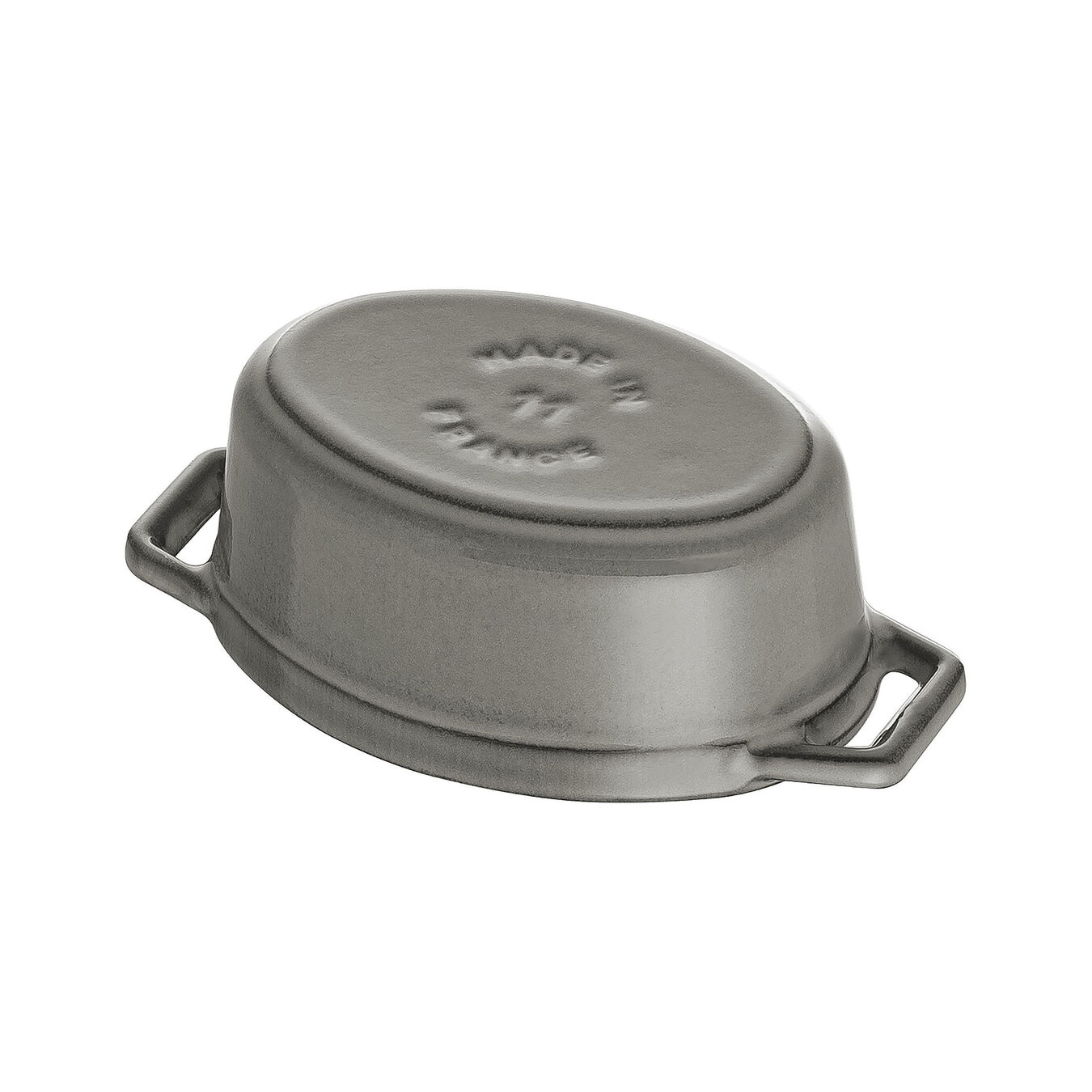 Mini Cocotte 11 cm, Ovale, Gris graphite, Fonte,,large 4