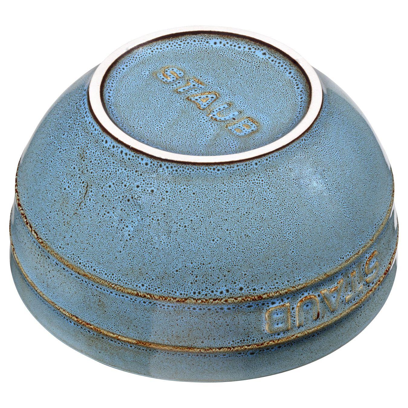 17 cm Ceramic round Bol, Ancient-Turquoise,,large 2