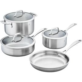 ZWILLING Spirit Stainless, 3-ply 7-pc Stainless Steel Cookware Set