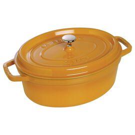 Staub Cast iron, 6-qt-/-31-cm oval Cocotte, Mustard