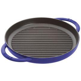 Staub Grill Pans, Pure Grill 26 cm, rund, Dunkelblau, Gusseisen