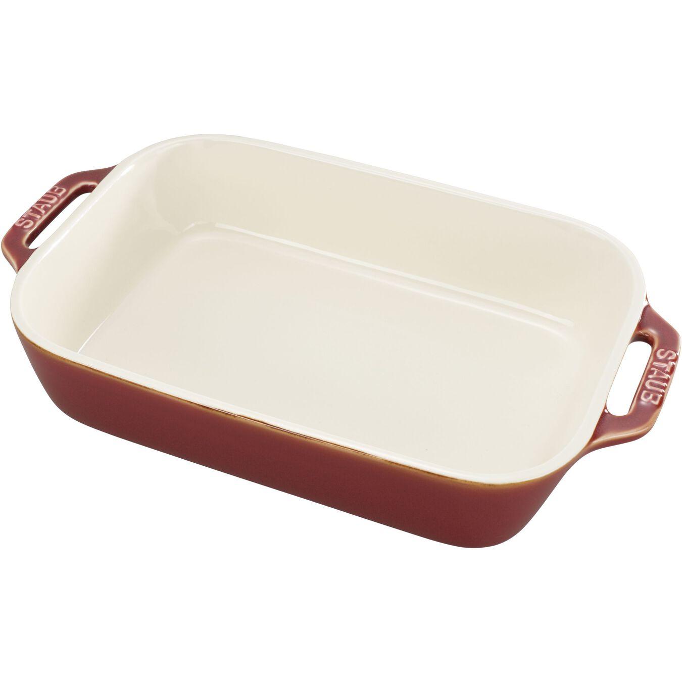 Ceramic rectangular Oven dish, Ancient-Copper,,large 2