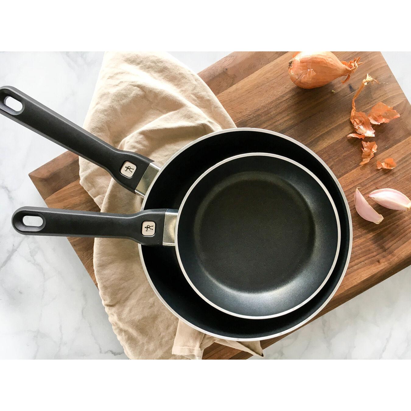2-pc Aluminum Nonstick Fry Pan Set - Black,,large 4