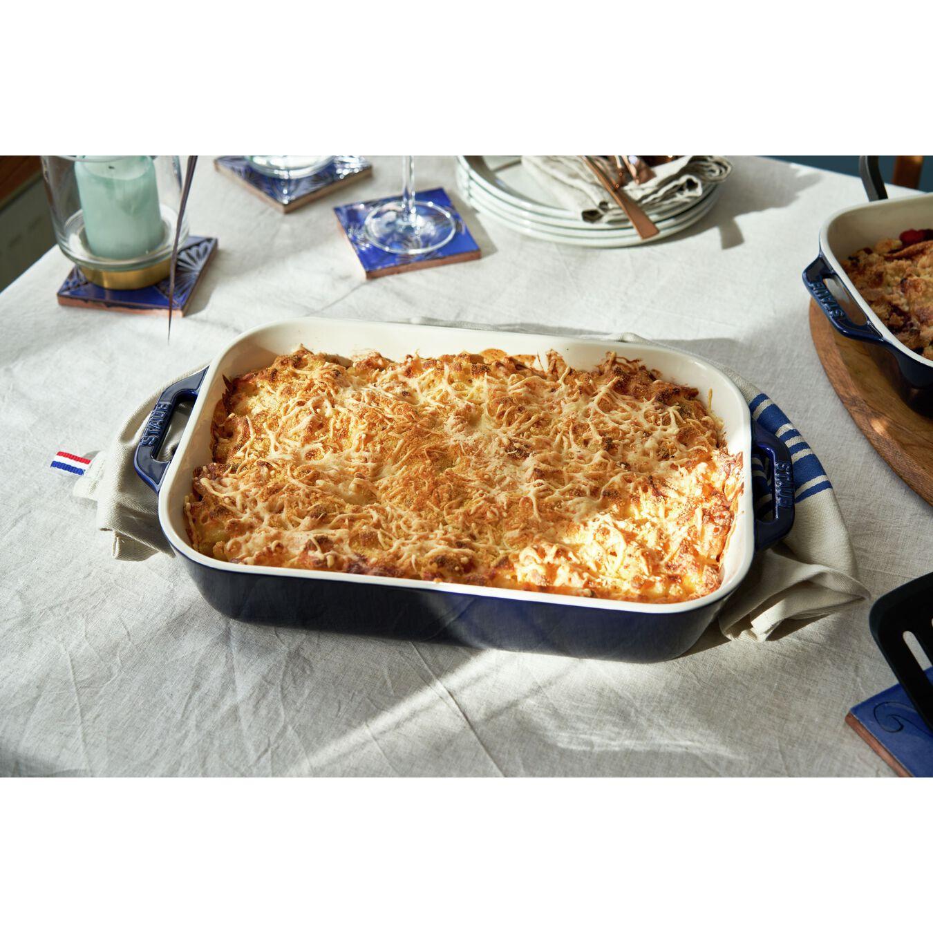 9.5-inch, rectangular, Special shape bakeware, dark blue,,large 2