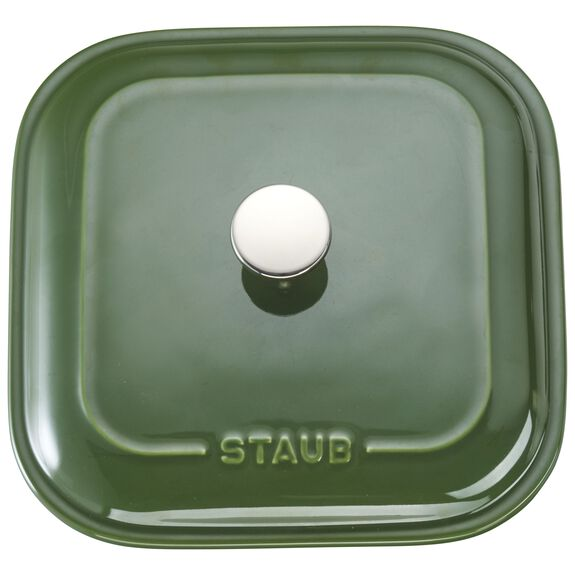 "9"" x 9"" Square Covered Baking Dish, Basil, , large 4"
