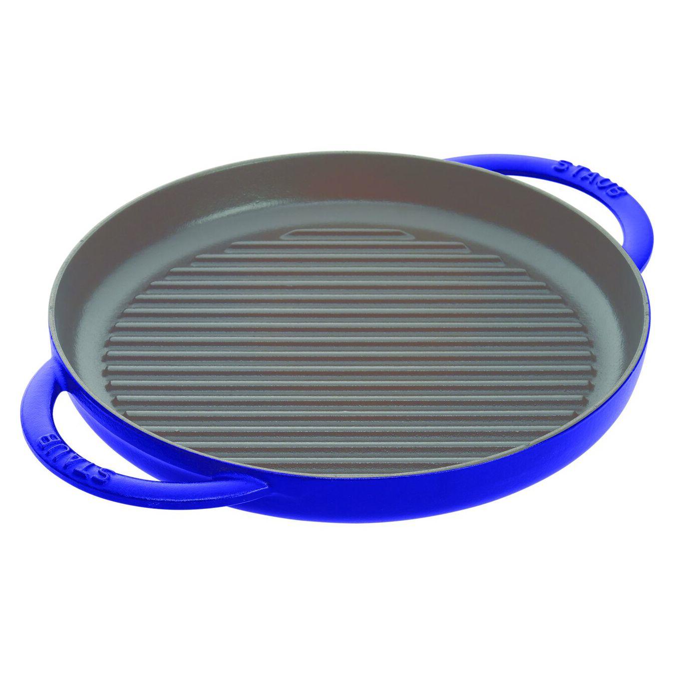 Pure Grill 26 cm, rund, Dunkelblau, Gusseisen,,large 2