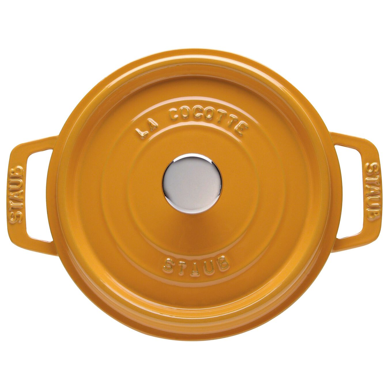 3.8 l Cast iron round Cocotte, mustard,,large 1