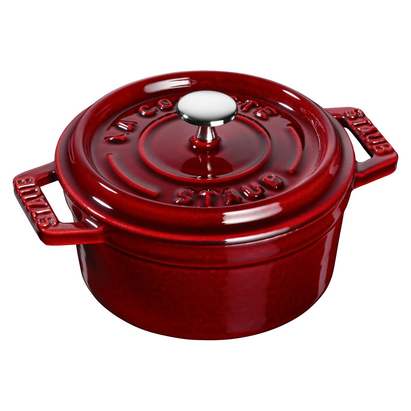 250 ml Cast iron round Mini Cocotte, Grenadine-Red,,large 2