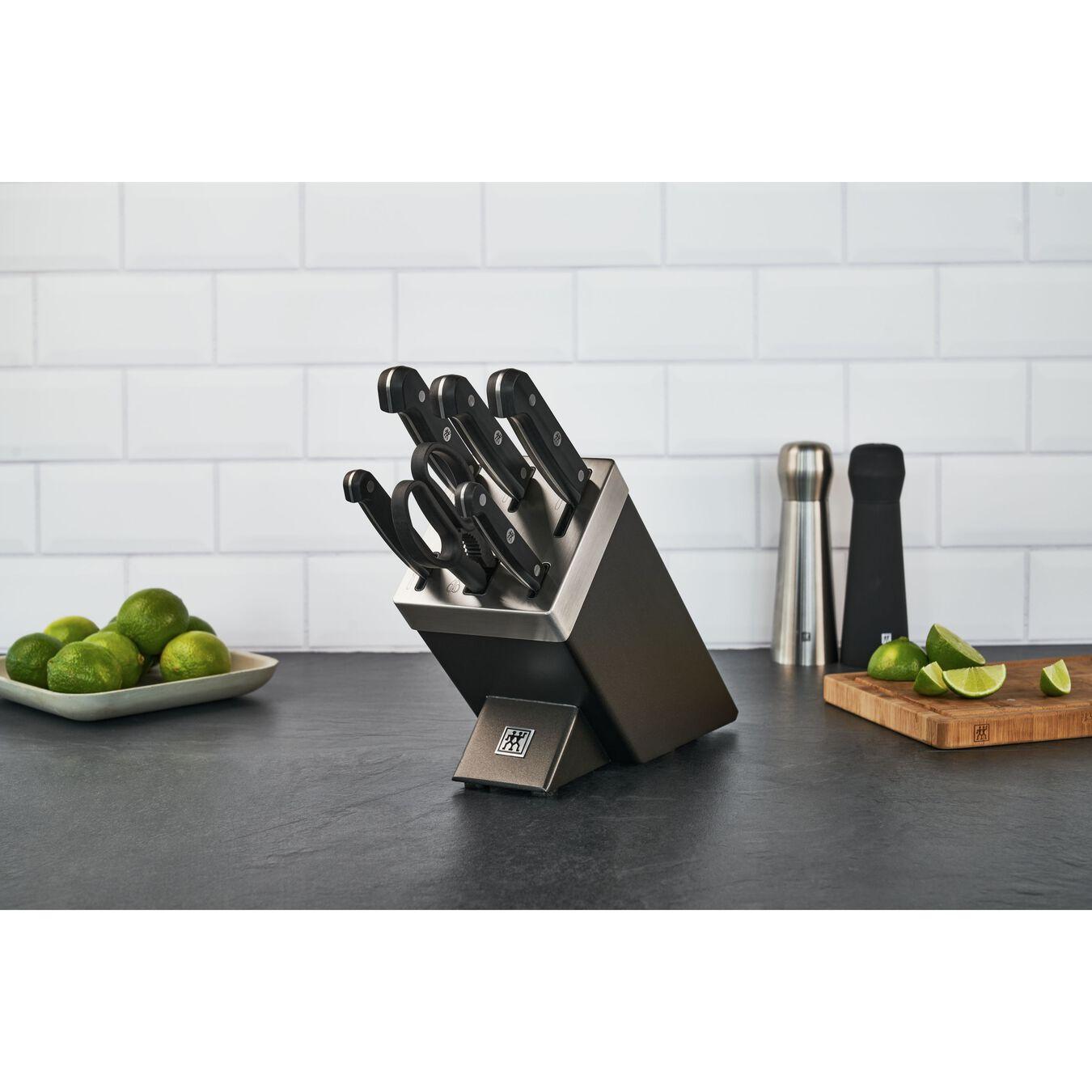Set di coltelli con ceppo con sistema autoaffilante - 7-pz., grigio,,large 3