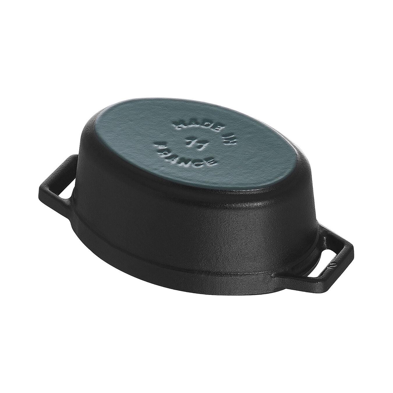 Mini Cocotte 11 cm, Ovale, Noir, Fonte,,large 5