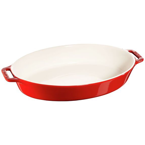 "14.5"" Oval Baking Dish, Cherry, , large"