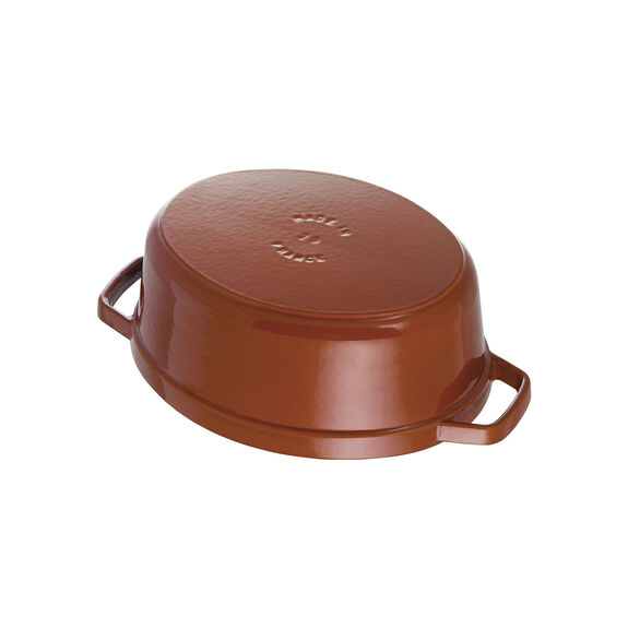 4.25-qt Coq au Vin Cocotte - Burnt Orange,,large 6