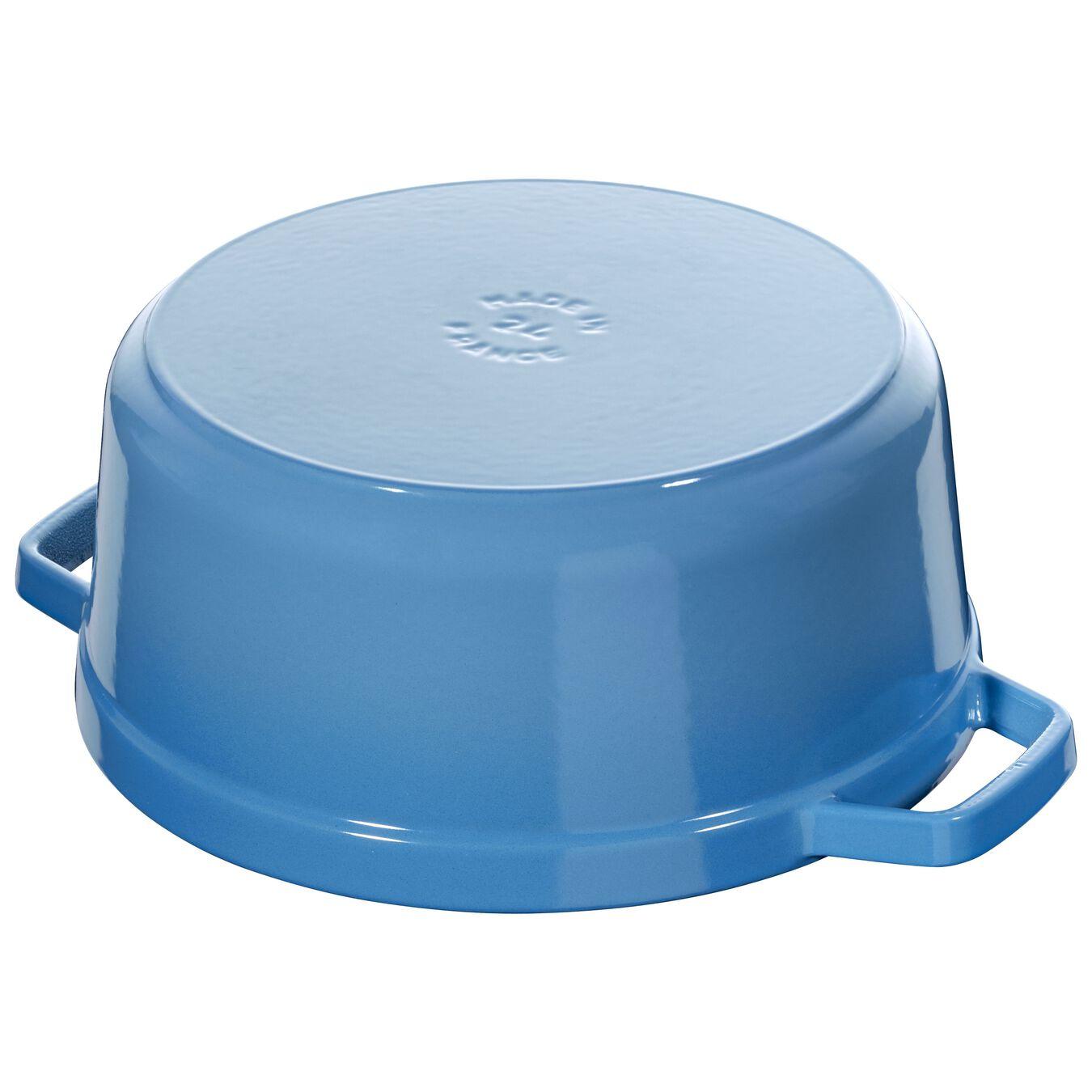 3.8 l Cast iron round Cocotte, ice-blue,,large 3