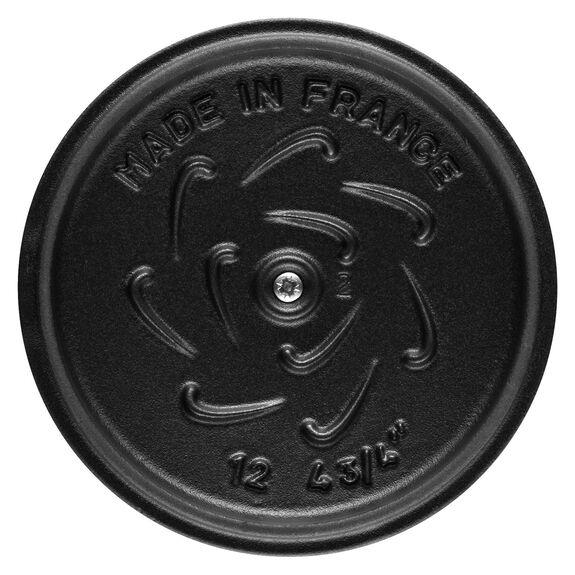 12-cm-/-4.5-inch round Cast iron Rice Cocotte, Black,,large 4
