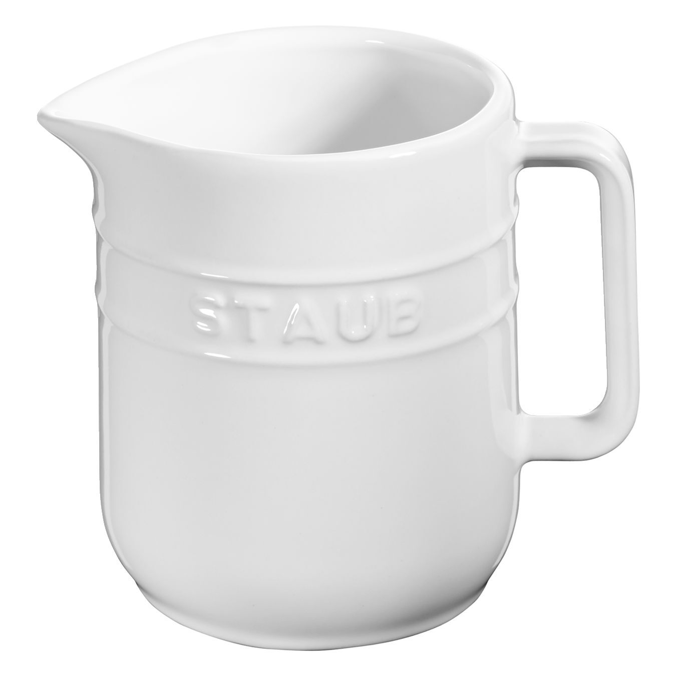 250 ml Ceramic Pitcher, Pure-White,,large 1