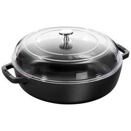 Staub Cast iron, 28-cm-/-11-inch Enamel Saute pan with glass lid