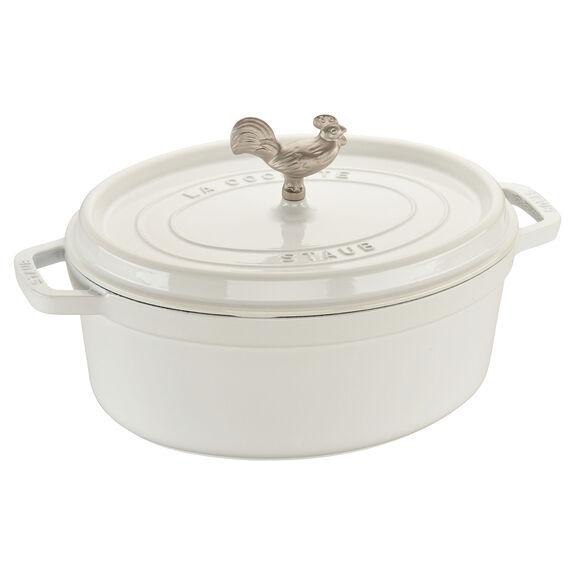 5.75-qt oval Cocotte, White,,large