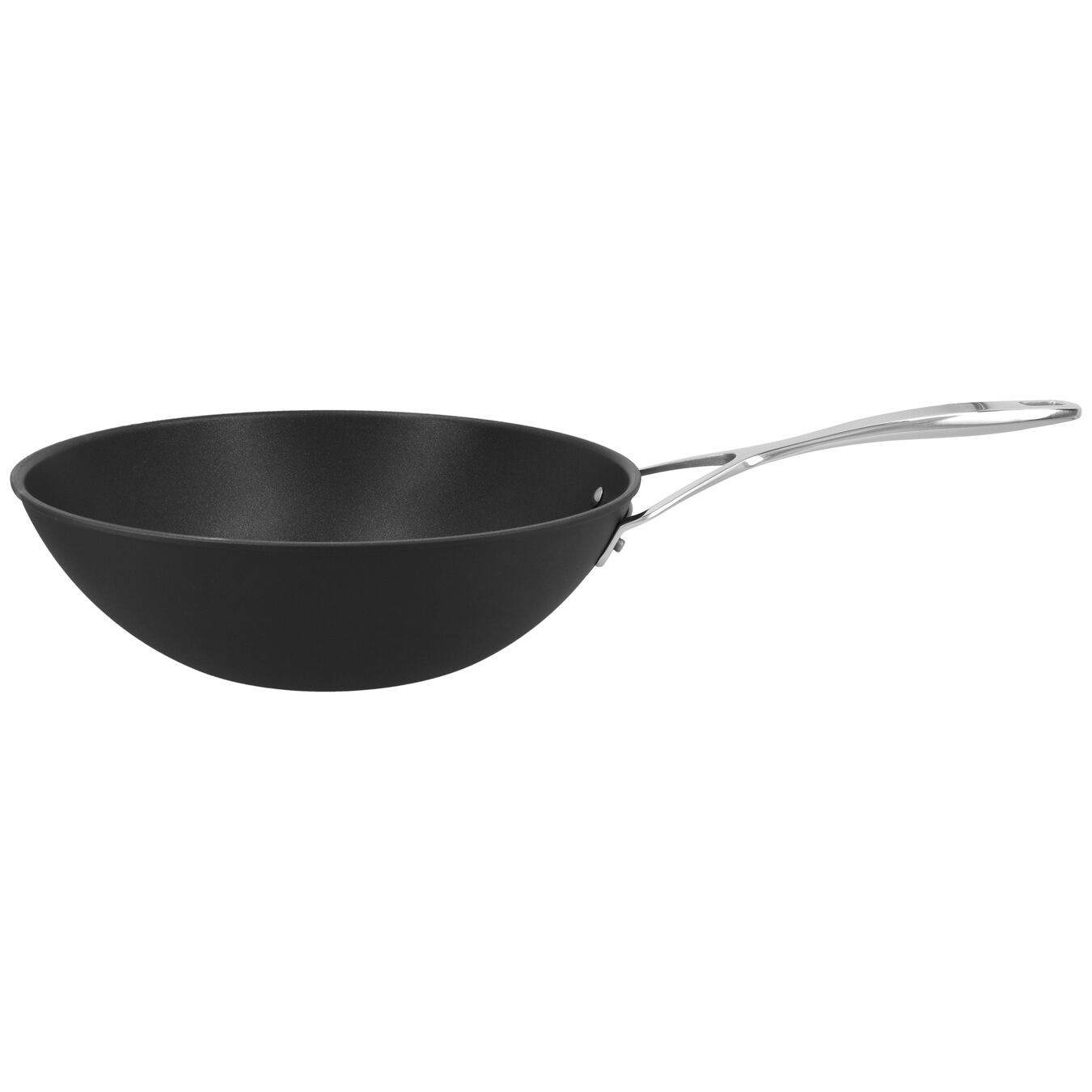 101.5-oz, aluminium, Wok, silver-black,,large 1