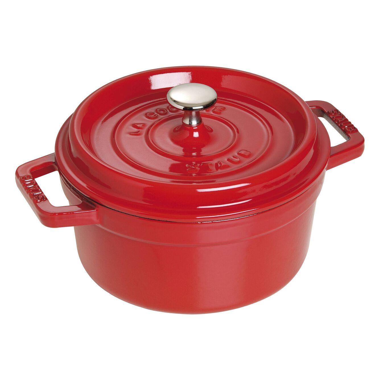 Caçarola 22 cm, redondo, Vermelho cereja, Ferro fundido,,large 1
