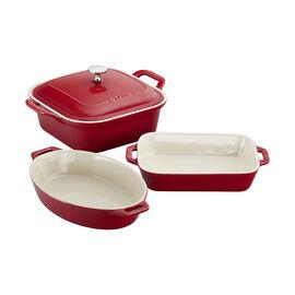 Staub Ceramics, 4-pc Baking Dish Set - Cherry