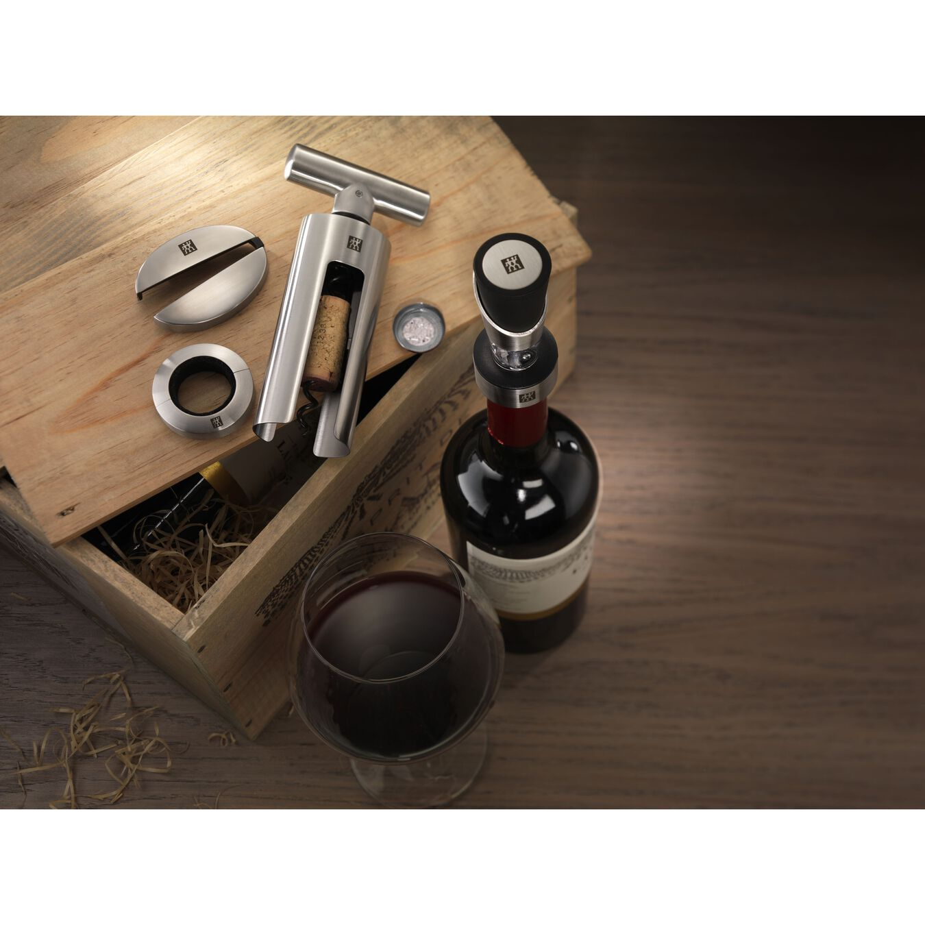 4-pc Sommelier 18/10 Stainless Steel Wine Tool Set,,large 4