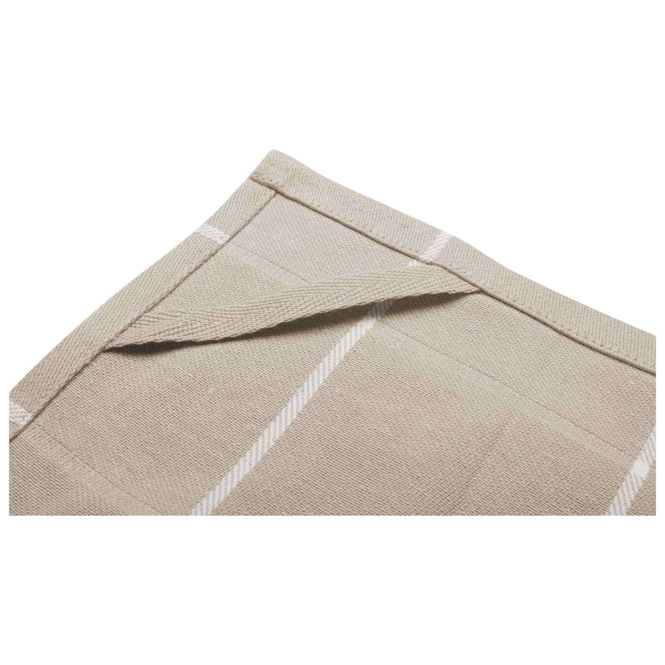 2 Piece 2 Piece Kitchen towel set checkered, taupe,,large 5