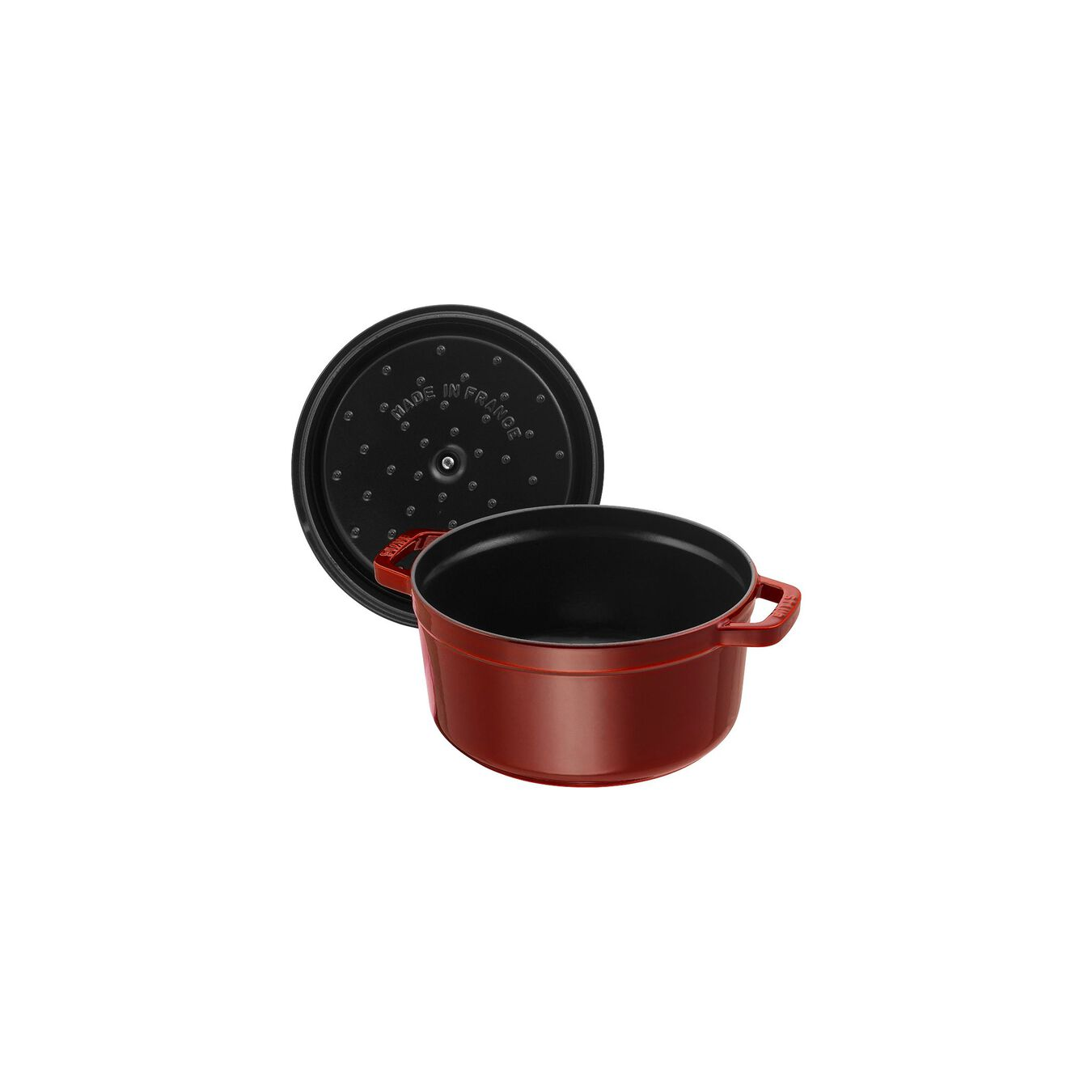 3,75 l Cast iron round Faitout, Grenadine-Red,,large 2