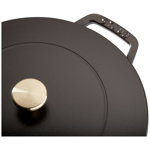 3.75-qt round French oven, Black,,large 5