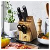 7-pc, Knife block set, bamboo,,large