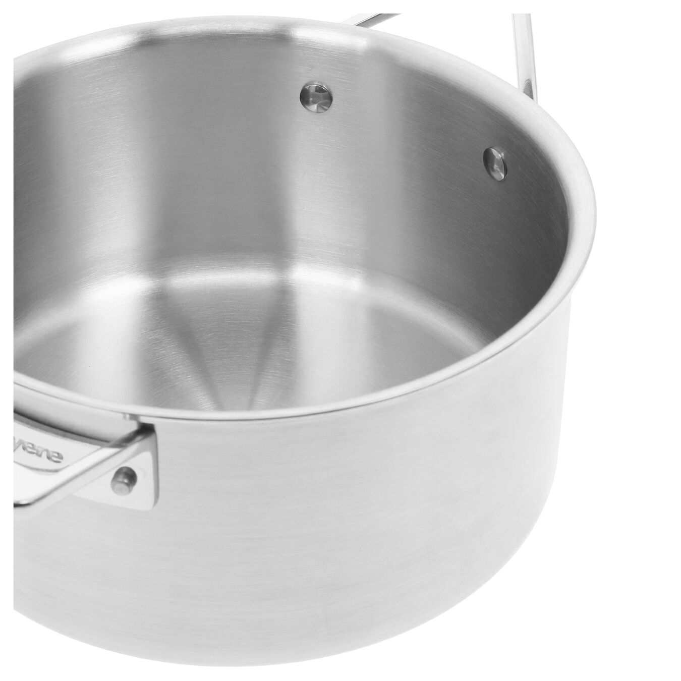 3.8 l round sauce pan with lid 4QT, silver,,large 4