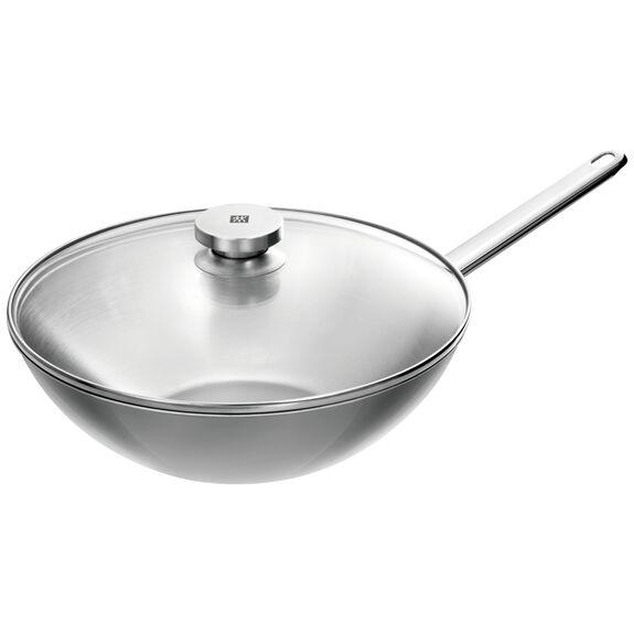 30-cm-/-12-inch  Wok, Silver,,large