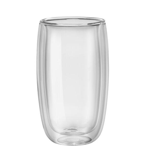 2-pc  Latte glass set,,large 2
