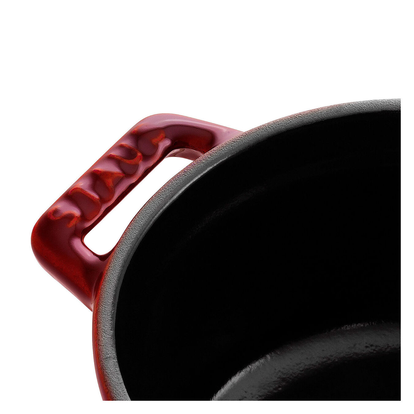 250 ml Cast iron round Mini Cocotte, Grenadine-Red,,large 3