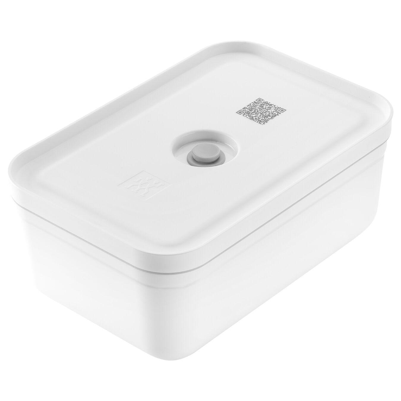 large Vacuum lunch box, Plastic, white,,large 1
